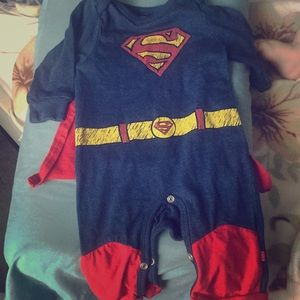 Superman costume with Velcro cape